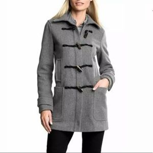 WOMEN'S GRAY BANANA REPUBLIC DUFFLE COAT SMALL NEW